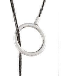 Isabel Marant - Metallic Looped Circle Necklace - Lyst