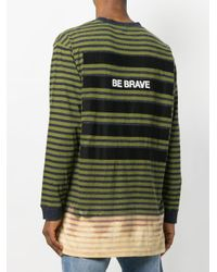 DIESEL - Men's Green Cotton T-shirt for Men - Lyst