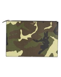 Givenchy - Green Large Camouflage Clutch for Men - Lyst