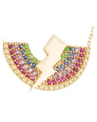 Anton Heunis - Metallic Rainbow Lightning Bolt Necklace - Lyst