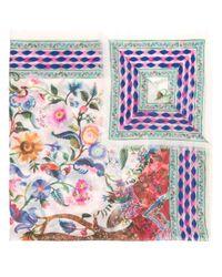 Ferragamo - White Floral Print Scarf - Lyst