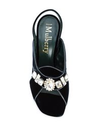 Mulberry - Blue Embellished Sandals - Lyst
