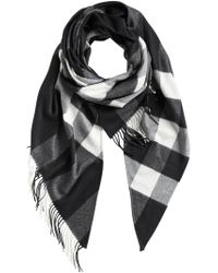 Burberry - Black Check Print Wrap - Lyst