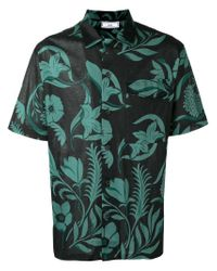 AMI | Black Printed Polo Shirt for Men | Lyst
