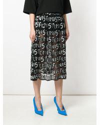Alice + Olivia - Black Sequin Embellished Skirt - Lyst