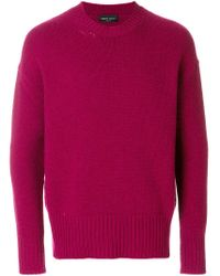 Roberto Collina - Pink Crew Neck Sweater for Men - Lyst