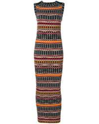Missoni Multicolor Striped Maxi Dress