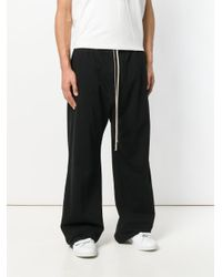 Rick Owens Drkshdw - Black Loose Fit Trousers for Men - Lyst
