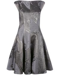 Talbot Runhof - Gray Korbut Dress - Lyst