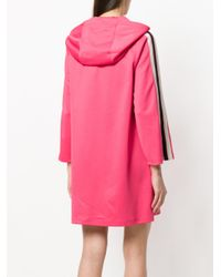Gucci - Pink Hooded Jersey Dress - Lyst