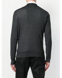 Prada - Gray Classic Stonewash-effect Jumper for Men - Lyst