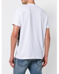 DIESEL - White Noize Print T-shirt for Men - Lyst