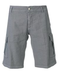 Entre Amis - Gray Cargo Shorts for Men - Lyst