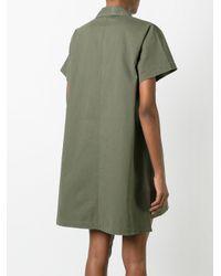 T By Alexander Wang - Green Military Shirt Dress - Lyst
