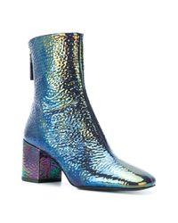 Premiata - Blue Iridescent Finish Boots - Lyst