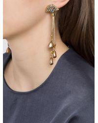 Camila Klein - Metallic Hanging Chain Long Earrings - Lyst