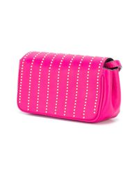 Moschino - Pink Studded Letters Crossbody Bag - Lyst
