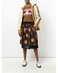 COACH - Multicolor Floral Layered Skirt - Lyst