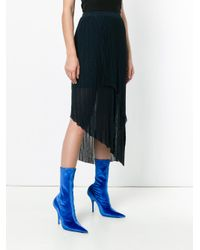 Christian Wijnants - Blue Asymmetric Shift Skirt - Lyst