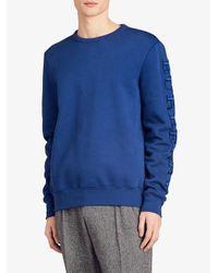 Burberry - Blue Jersey Sweatshirt for Men - Lyst