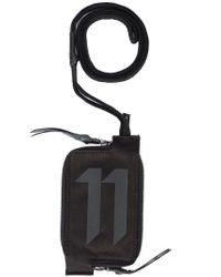 Boris Bidjan Saberi 11 - Black Logo Print Zipped Wallet - Lyst