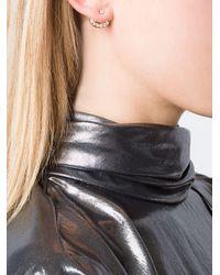 Anita Ko - Metallic Diamond Lobe Earring - Lyst