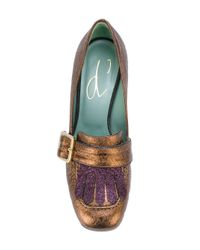 Paola D'arcano - Brown Buckled Pumps - Lyst