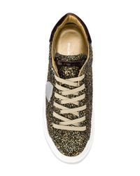 Philippe Model - Multicolor Glitter Lace-up Sneakers - Lyst