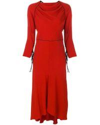Marni - Red Tie Cuff Maxi Dress - Lyst
