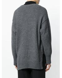 FEDERICA TOSI - Gray Distressed Jumper - Lyst