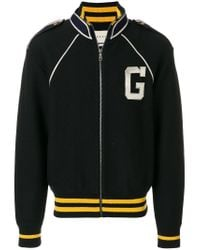 Gucci - Black Signature Bomber Jacket for Men - Lyst