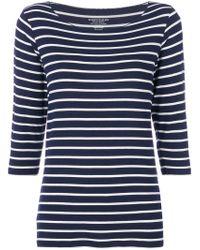Majestic Filatures - Blue Striped Sweater - Lyst