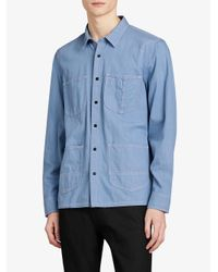 Burberry - Blue Japanese Denim Shirt for Men - Lyst