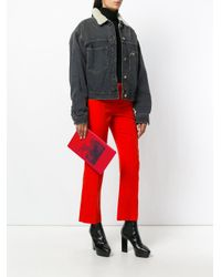Givenchy - Red Bambi Print Clutch - Lyst