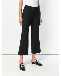 MICHAEL Michael Kors Black Cropped Bootcut Trousers
