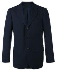 Kiton - Blue Slim-fitting Blazer for Men - Lyst