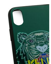KENZO - Green Tiger Iphone X Case - Lyst