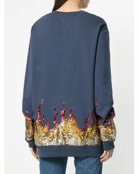 Zoe Karssen - Blue Hot For You Sequinned Sweatshirt - Lyst