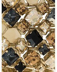 Lanvin - Metallic Thick Embossed Stone Cuff - Lyst