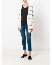 Eleventy - White Striped Cardigan - Lyst