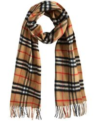 Burberry - Brown Cashmere Classic Vintage Check Scarf - Lyst