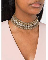 Lanvin - Metallic Embellished Choker - Lyst