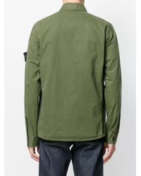 Stone Island - Green Brushed Over Shirt for Men - Lyst