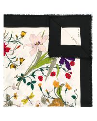 408ee7ef9 Gucci Floral Print Scarf - Lyst