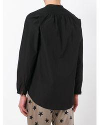 Faith Connexion - Black Collarless Shirt for Men - Lyst