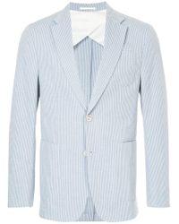 Cerruti 1881 - Blue Striped Blazer for Men - Lyst