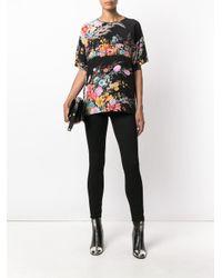 N°21 - Black Floral Printed Blouse - Lyst