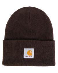 Carhartt - Brown Logo Beanie - Lyst