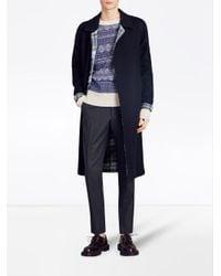 Burberry - Blue Fair Isle Sweater for Men - Lyst