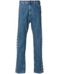 Paura - Blue Danilo X Kappa Side Band Duo-tone Jeans for Men - Lyst